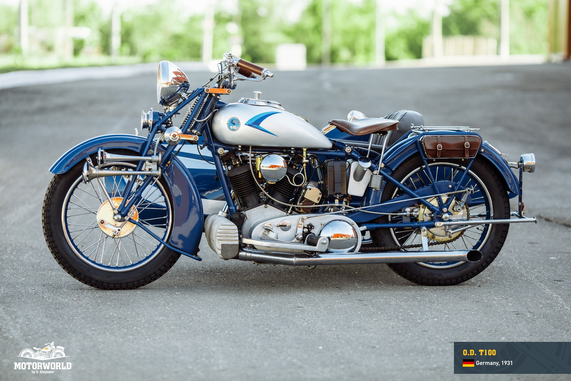 1931, OD T100 motorcycle