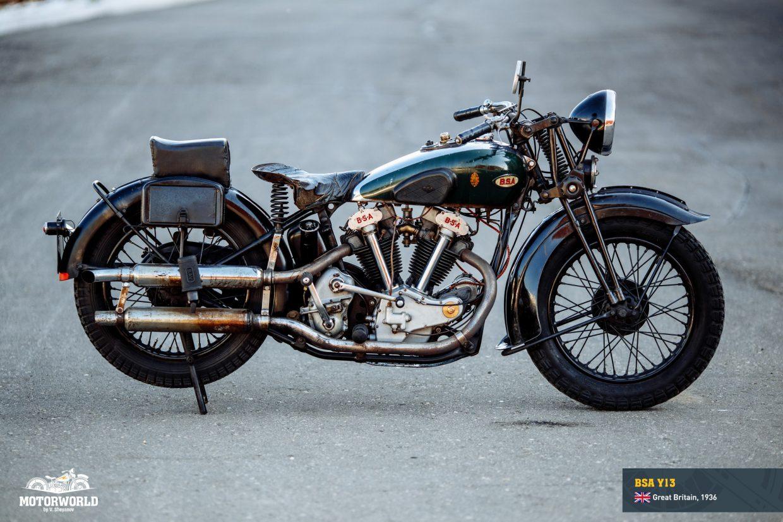 Motorcycle BSA Y13 in Motorworld Museum