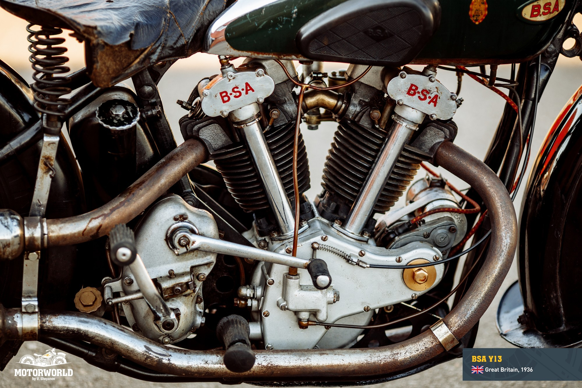 1936, BSA Y13 engine