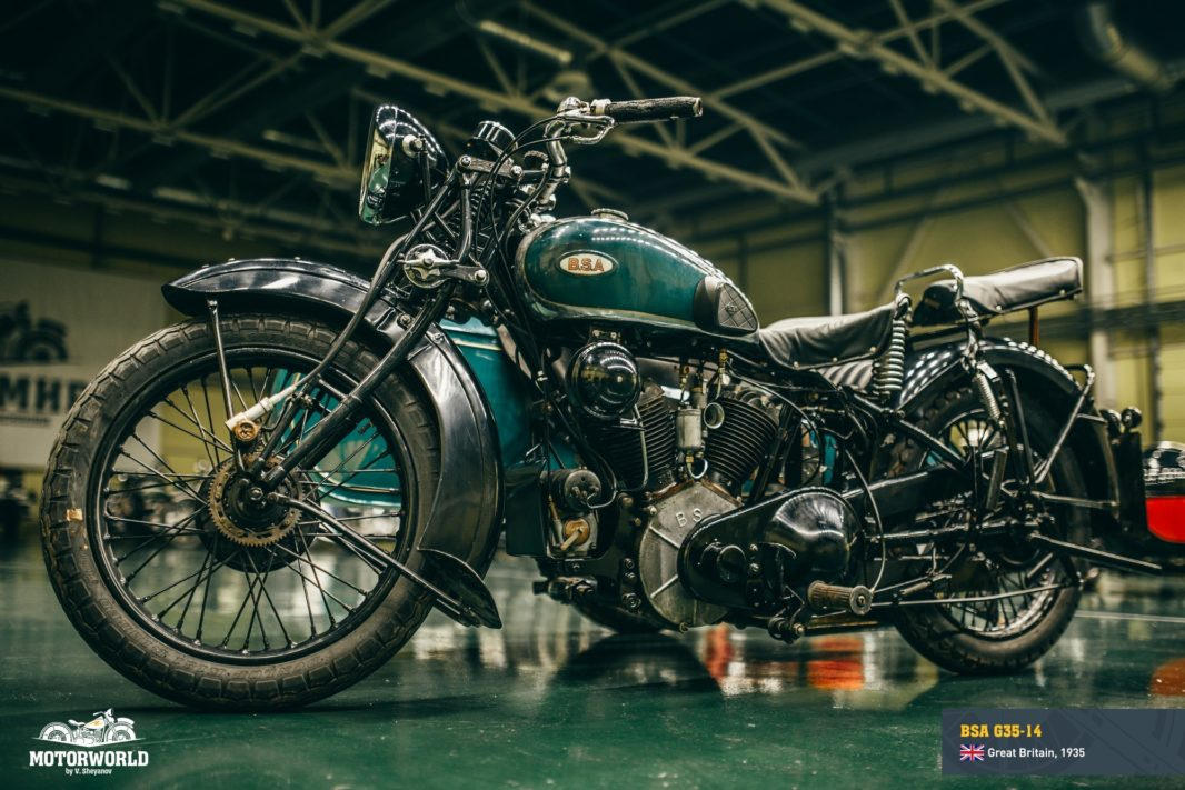 "Restored BSA G35-14 at motorcycle museum ""Motorworld by V.Sheyanov"""